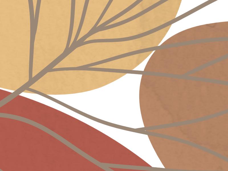 Minimalist landscape with a palm leaf 7