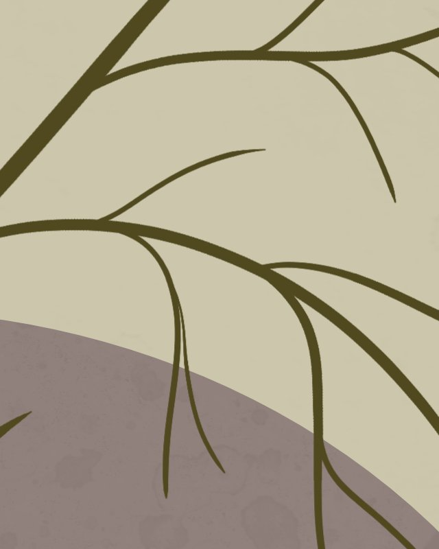 Line Drawing of a tree in Affinity Designer