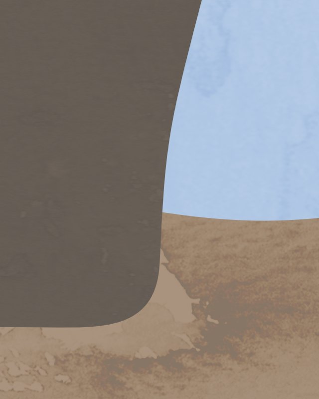 Minimalist landscape with a eucalyptus tree 22