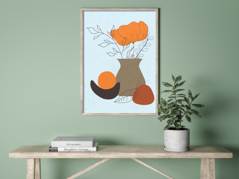Minimalist still life with a vase 1