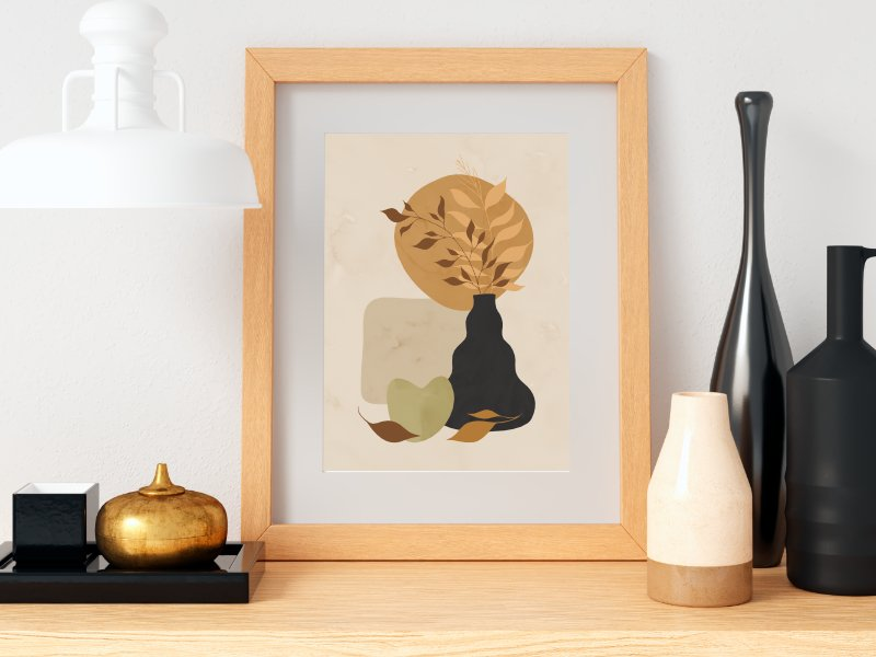 Minimalist still life with a vase 10