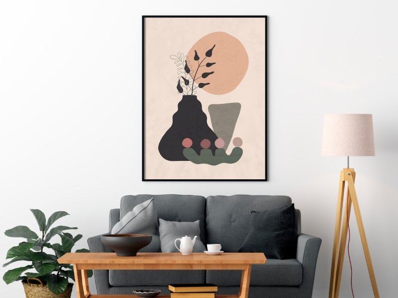 Minimalist still life with a vase 13