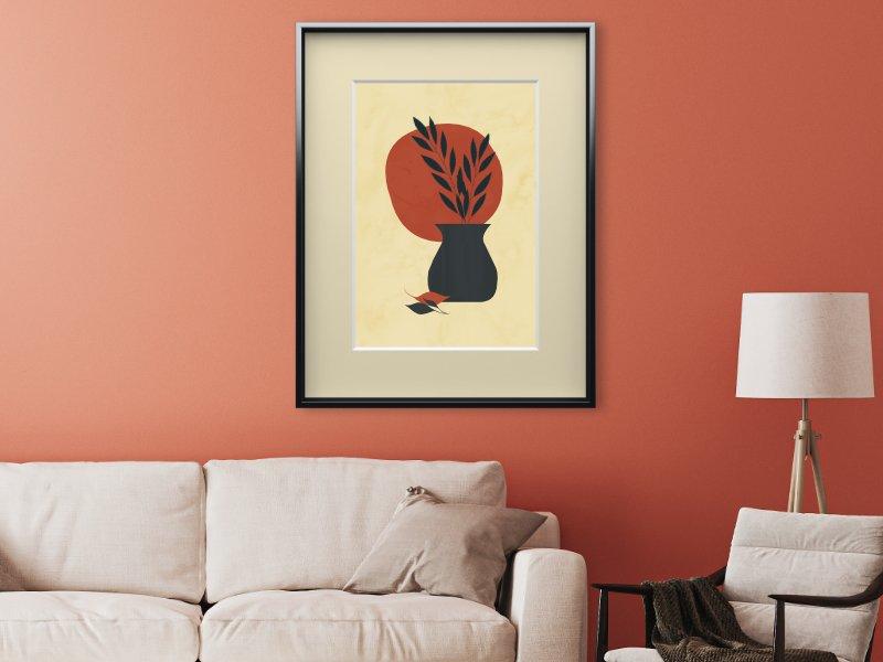 Minimalist still life with a vase 16