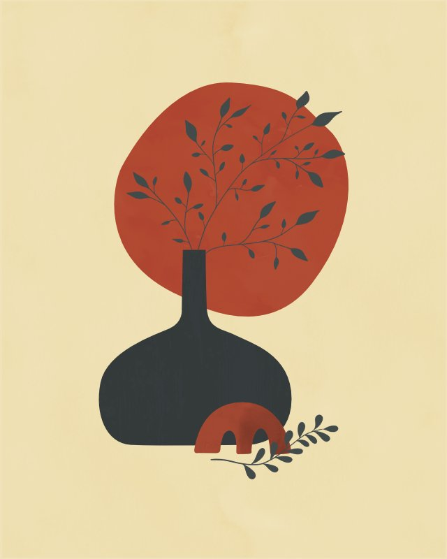 Minimalist still life with a vase 19