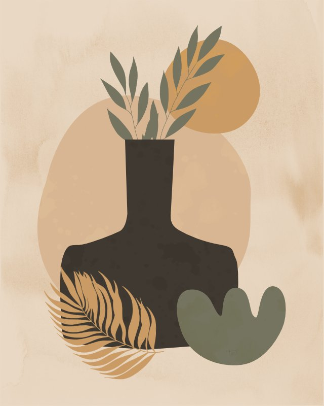 Minimalist still life with a vase 4