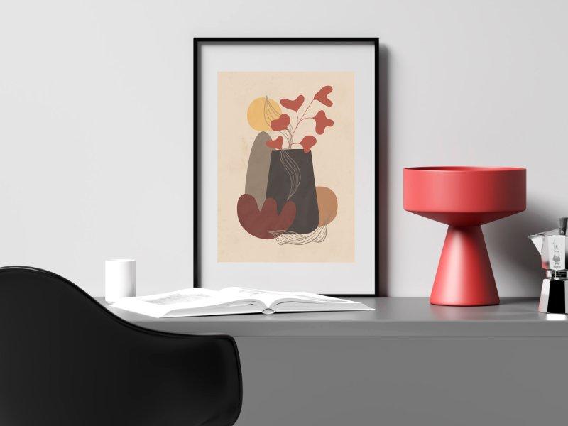 Minimalist still life with a vase 6
