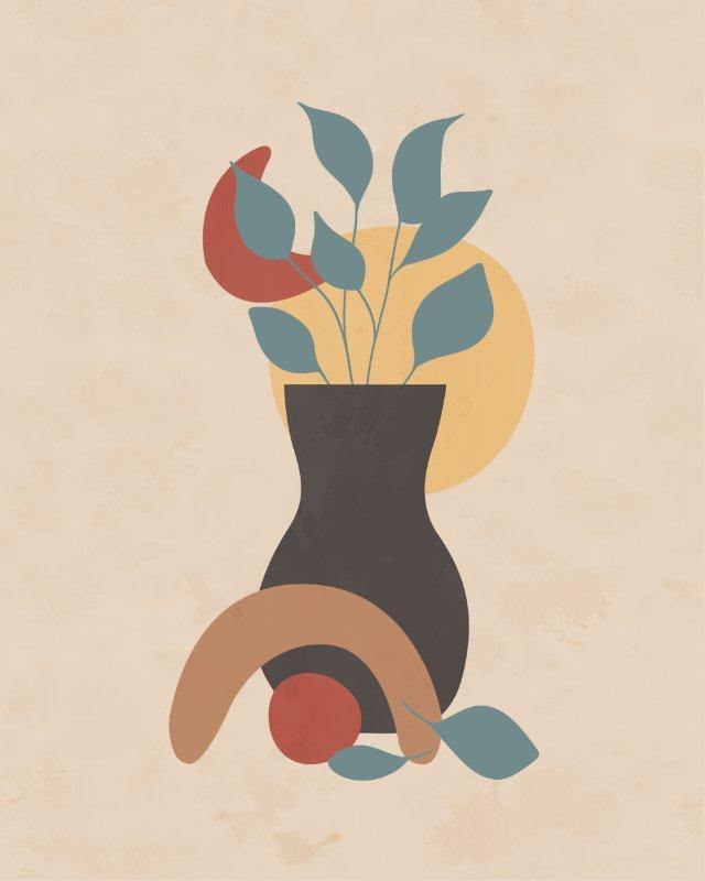Minimalist still life with a vase 7