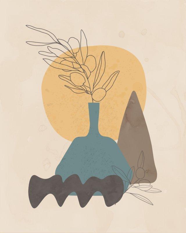 Minimalist still life with a vase 8
