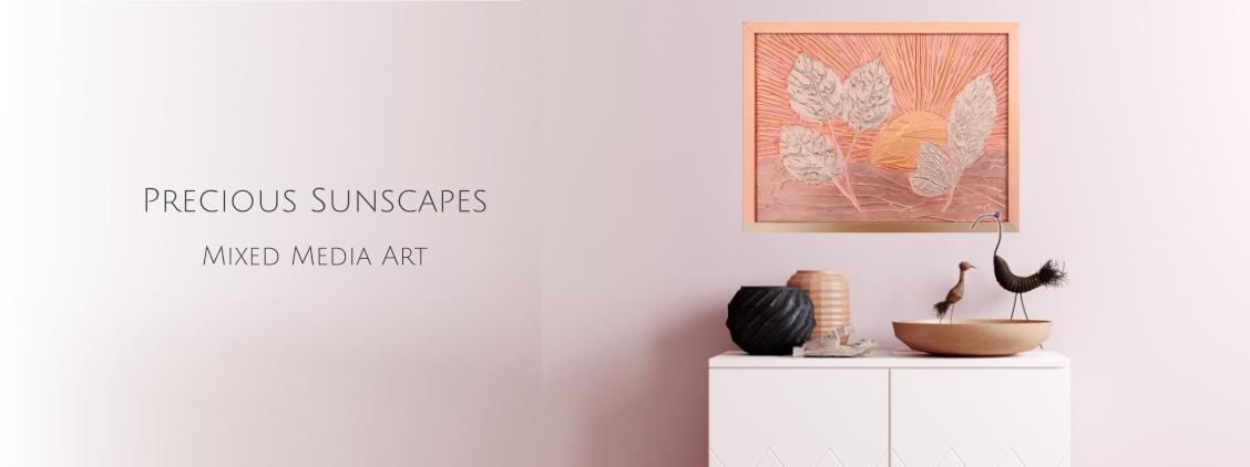 Precious Sunscapes mixed media art