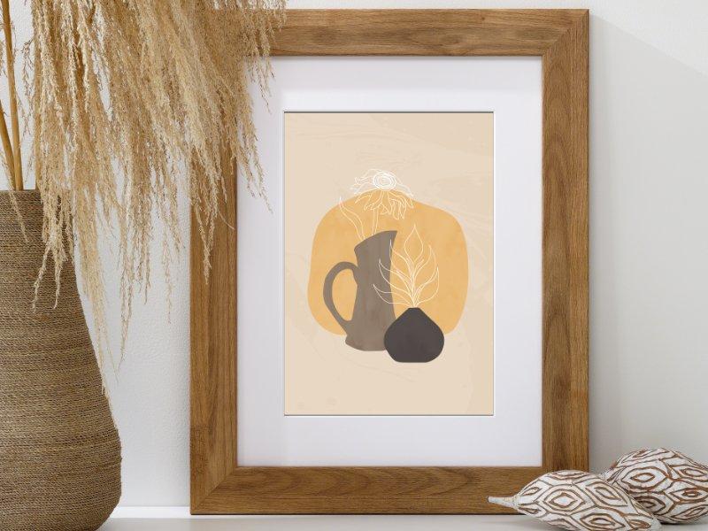 Minimalist still life illustration of a jug 3