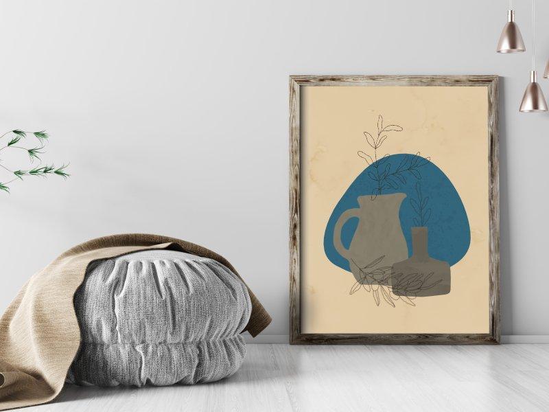 Minimalist still life illustration of a jug 4