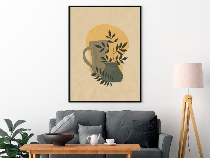 Minimalist still life illustration of a jug 6